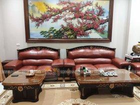 Bọc lại ghế sofa và ghế ăn với màu đỏ để đón Tết
