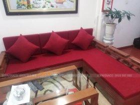 Đệm ghế gỗ màu đỏ rực rỡ đón Tết 2020