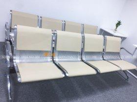 Bọc đệm ghế chờ inox tại văn phòng Cầu Giấy