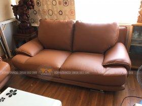Công trình bọc ghế sofa da tại Cầu Giấy của Vinaco