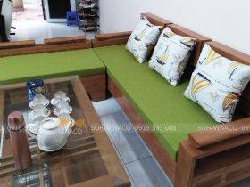Đệm ghế xanh lá đón xuân mới cho chị Thủy ở Lê Trọng Tấn