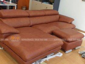 Bọc ghế sofa da thật nhập khẩu cho anh Đạt ở Xuân Thủy, Cầu Giấy