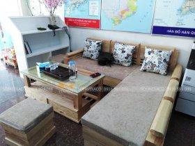 Bộ đệm ghế nỉ nhung tại Phúc La quận Hà Đông