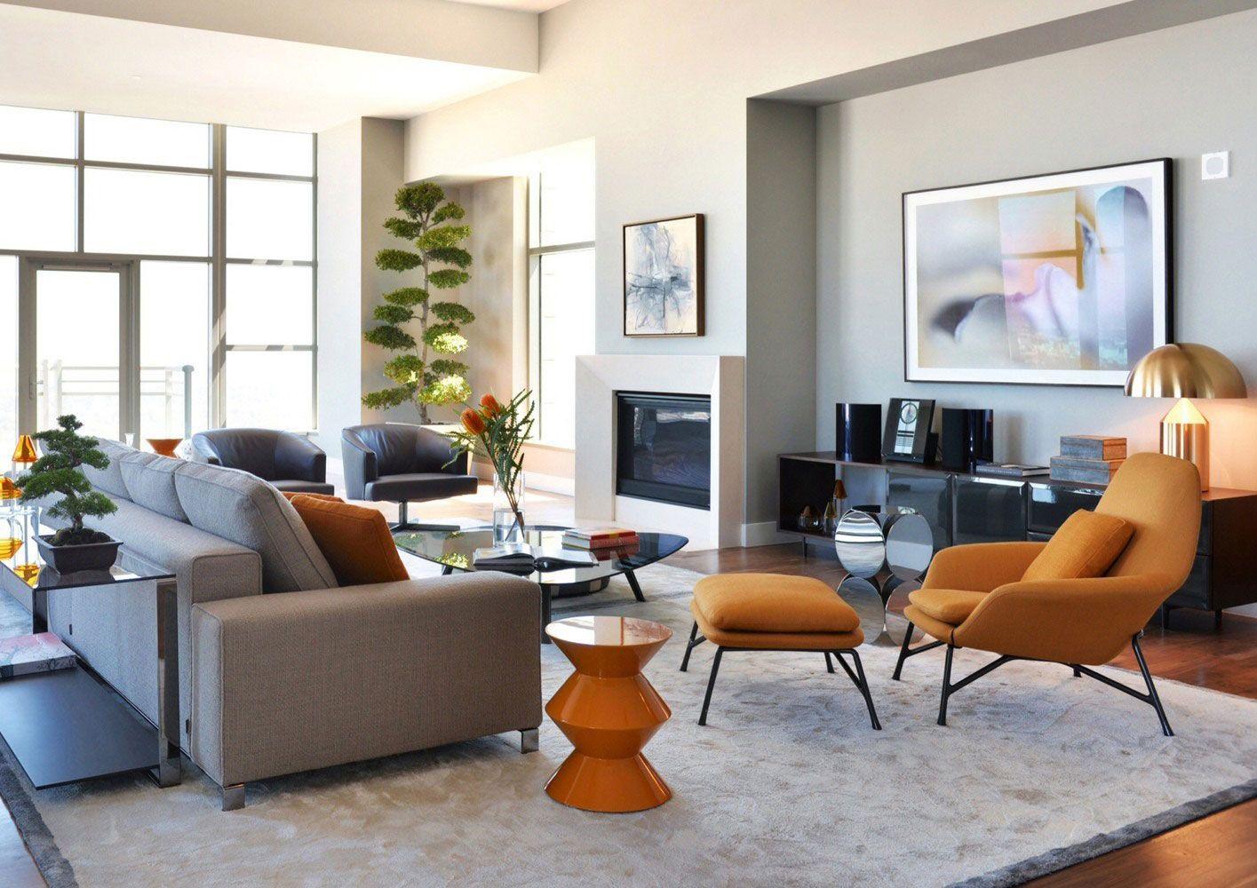 Bố trí ghế sofa cho phòng khách hiện đại