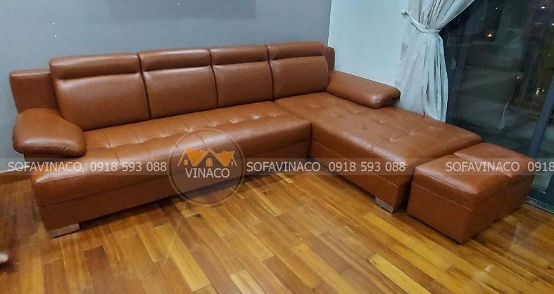Bọc ghế sofa chữ L uy tín chất lượng giá cả khỏi chê tại Hà Nội