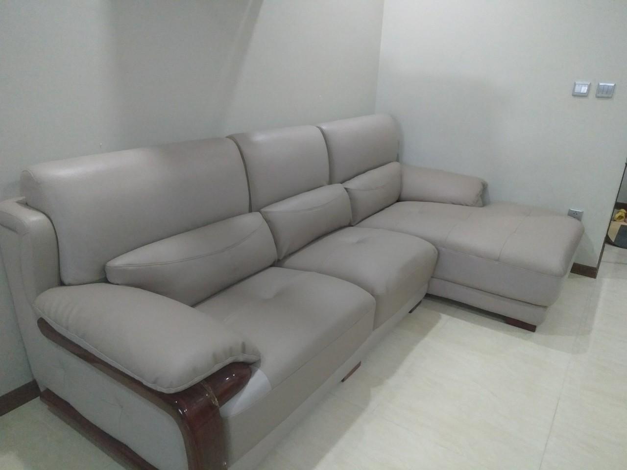 Bọc ghế sofa góc RẠN NỨT cho chị Yến tại Nam Từ Liêm, Hà Nội