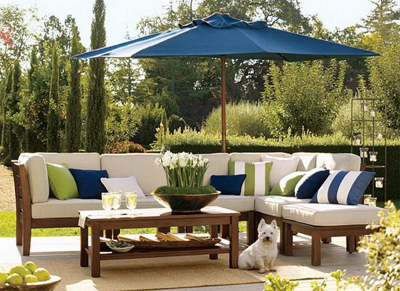 Bọc ghế sofa ngoài trời giúp sáng bừng không gian vườn nha bạn