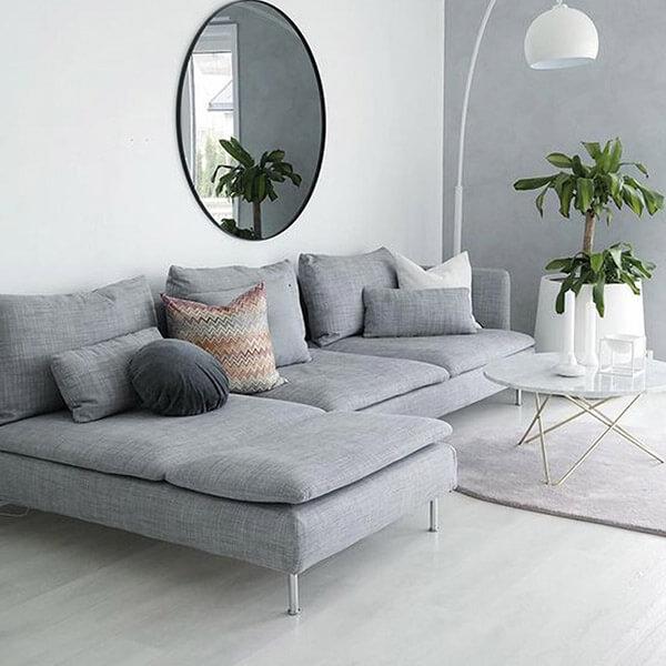 Bọc ghế sofa nỉ giúp không gian phòng khách khách thêm sang trọng, tiện lợi