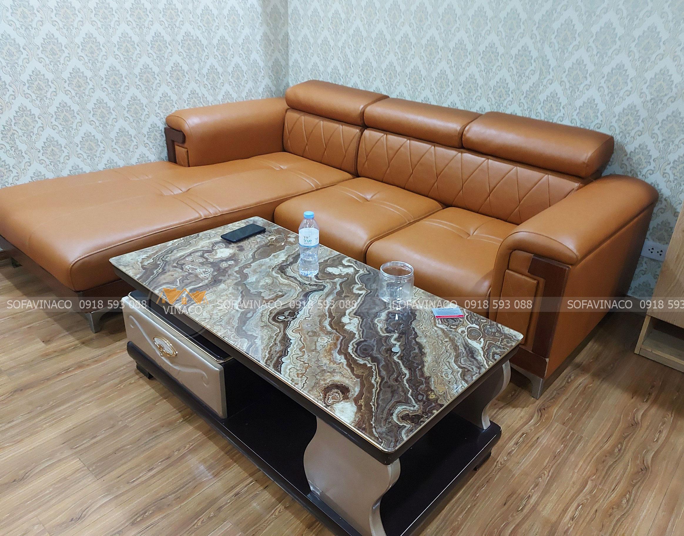 Bọc lại ghế sofa chất lượng cho gia đình anh Hữu ở Vĩnh Tuy, Hai Bà Trưng, Hà Nội