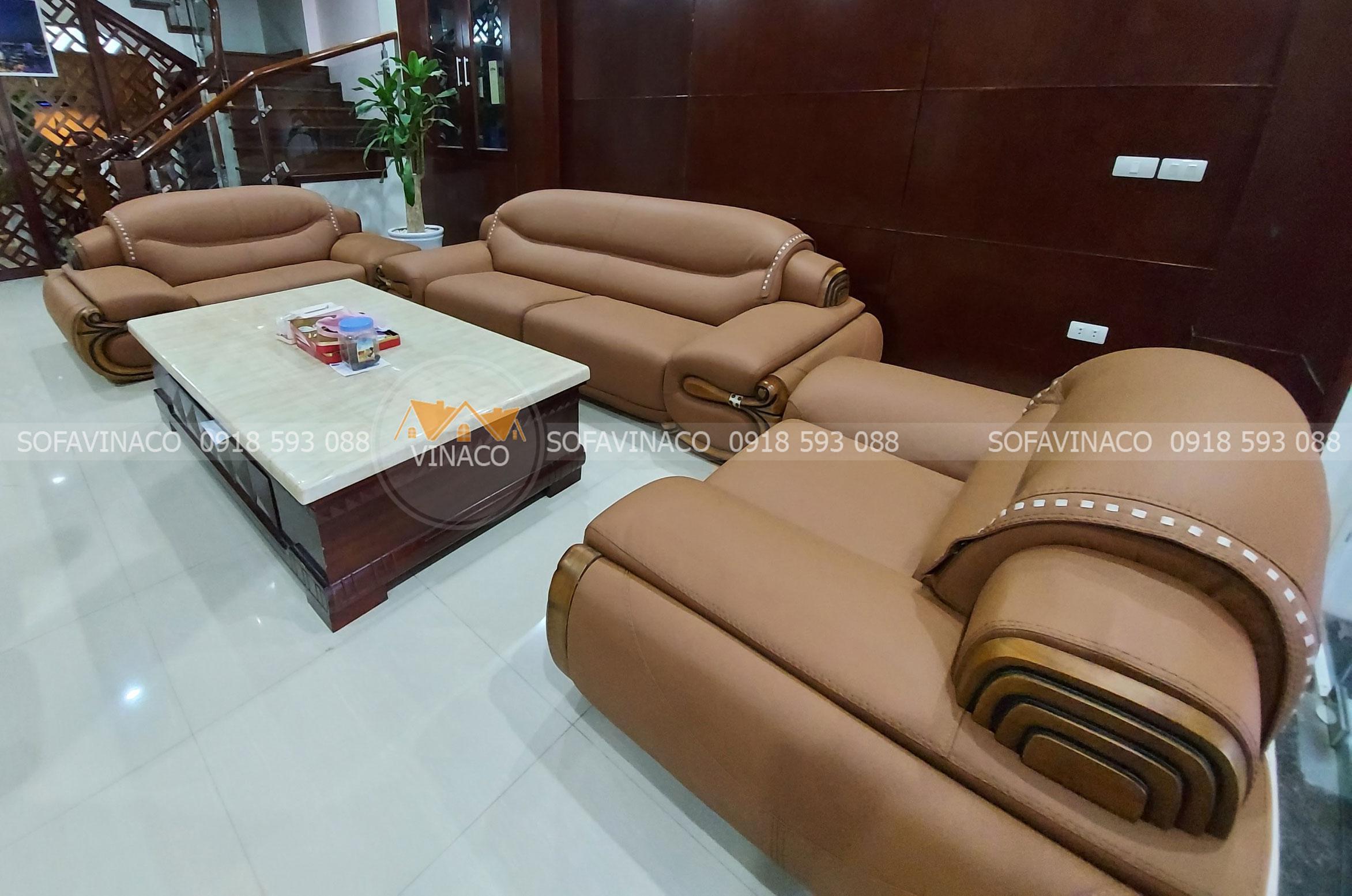 Bọc lại ghế sofa da uy tín chất lượng tại Nội Bài, Hà Nội