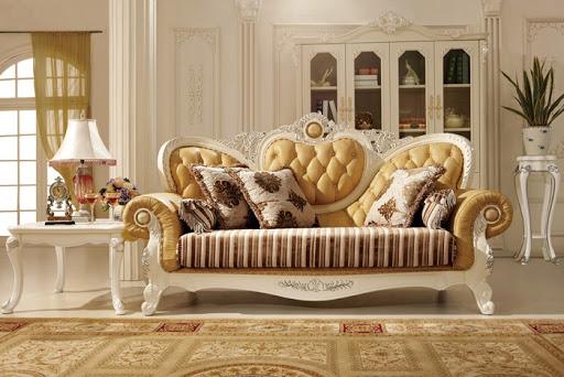 Chọn mẫu đóng ghế sofa cho phòng khách cổ điển vintage
