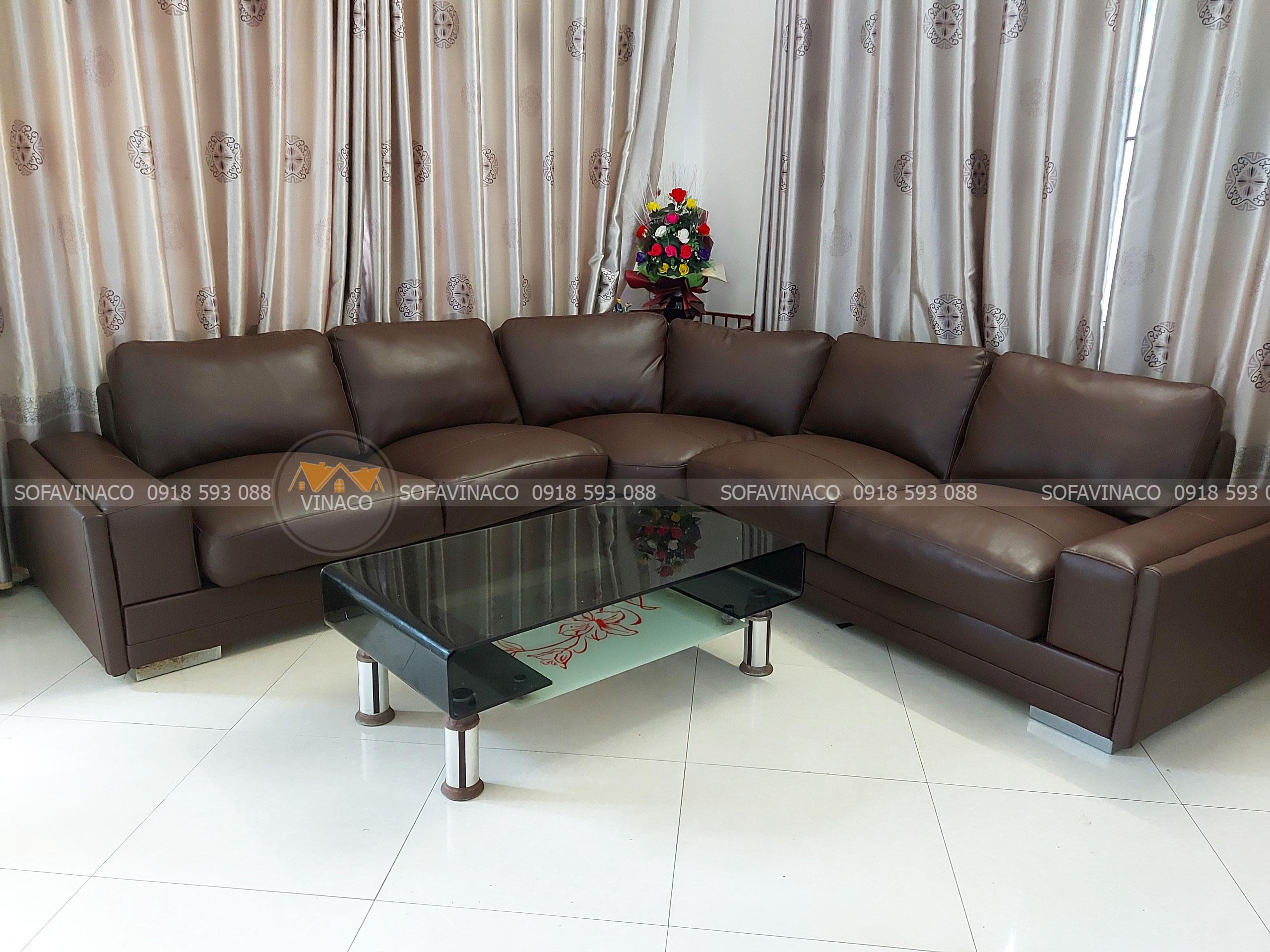 Dịch vụ bọc lại ghế sofa da sờn của gia đình chị Tuyết tại Hoàn Kiếm, Hà Nội