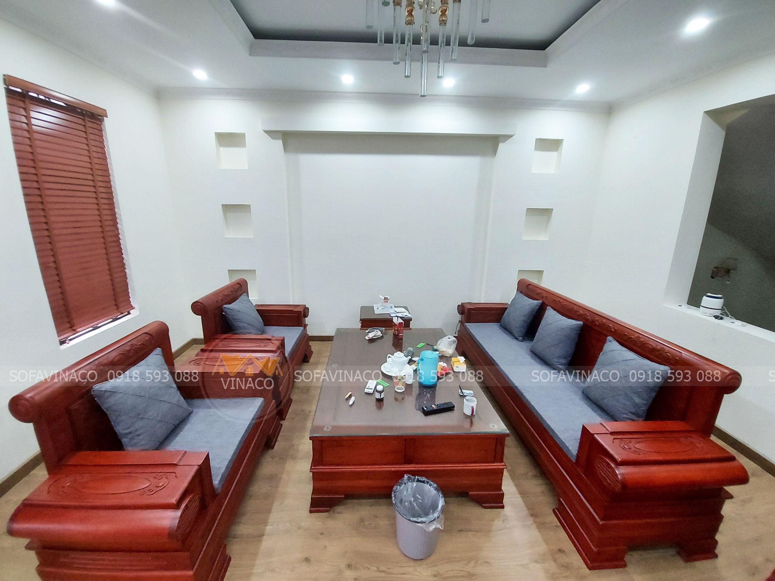 Dịch vụ làm đệm ghế sofa pháo gỗ xoan đào chất lượng tại hai Bà Trưng, Hà Nội