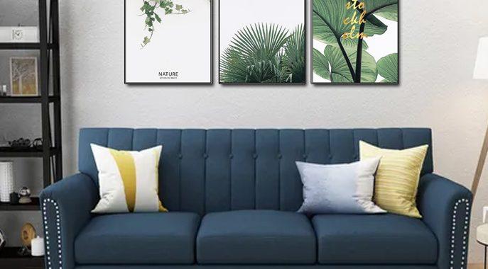 Ghế sofa màu xanh đậm mang đến điều mới mẻ gì cho phòng khách nhà bạn?