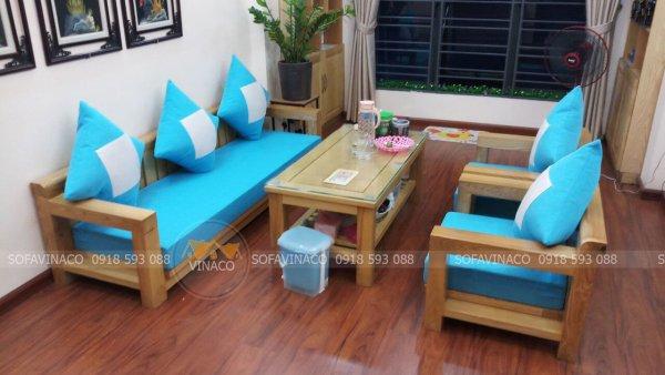 Làm đệm ghế gỗ giá rẻ tại Hoàng Mai Hà Nội