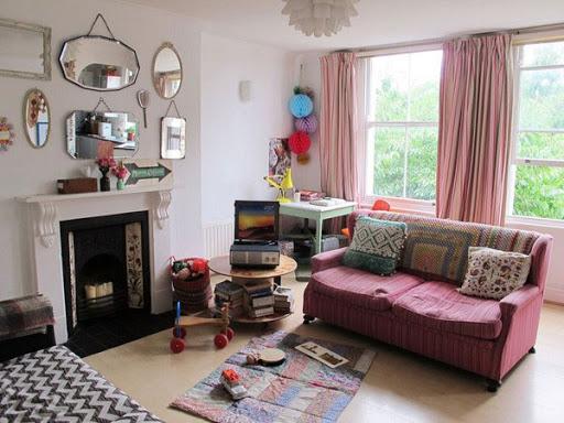 Làm mới phòng khách bằng phong cách cố điển Vintage
