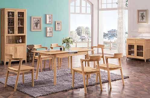 Mang lại không gian gian đẹp với bàn ghế gỗ tự nhiên