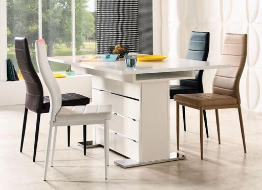 Mẫu làm đệm ghế gỗ cho không gian phòng ăn thêm sang trọng
