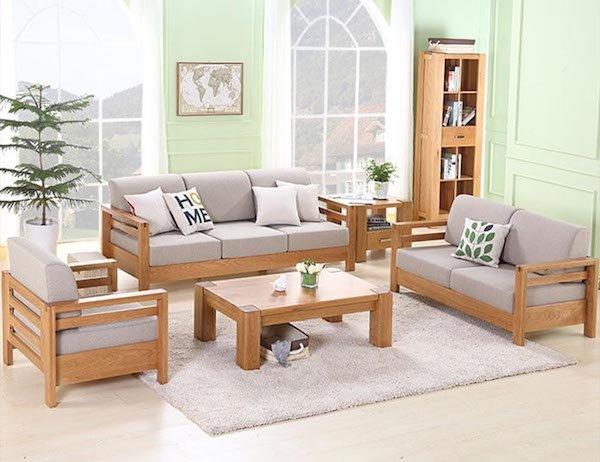 Màu sofa gỗ tự nhiên đóng ghế sofa được ưa chuộng nhất hiện nay