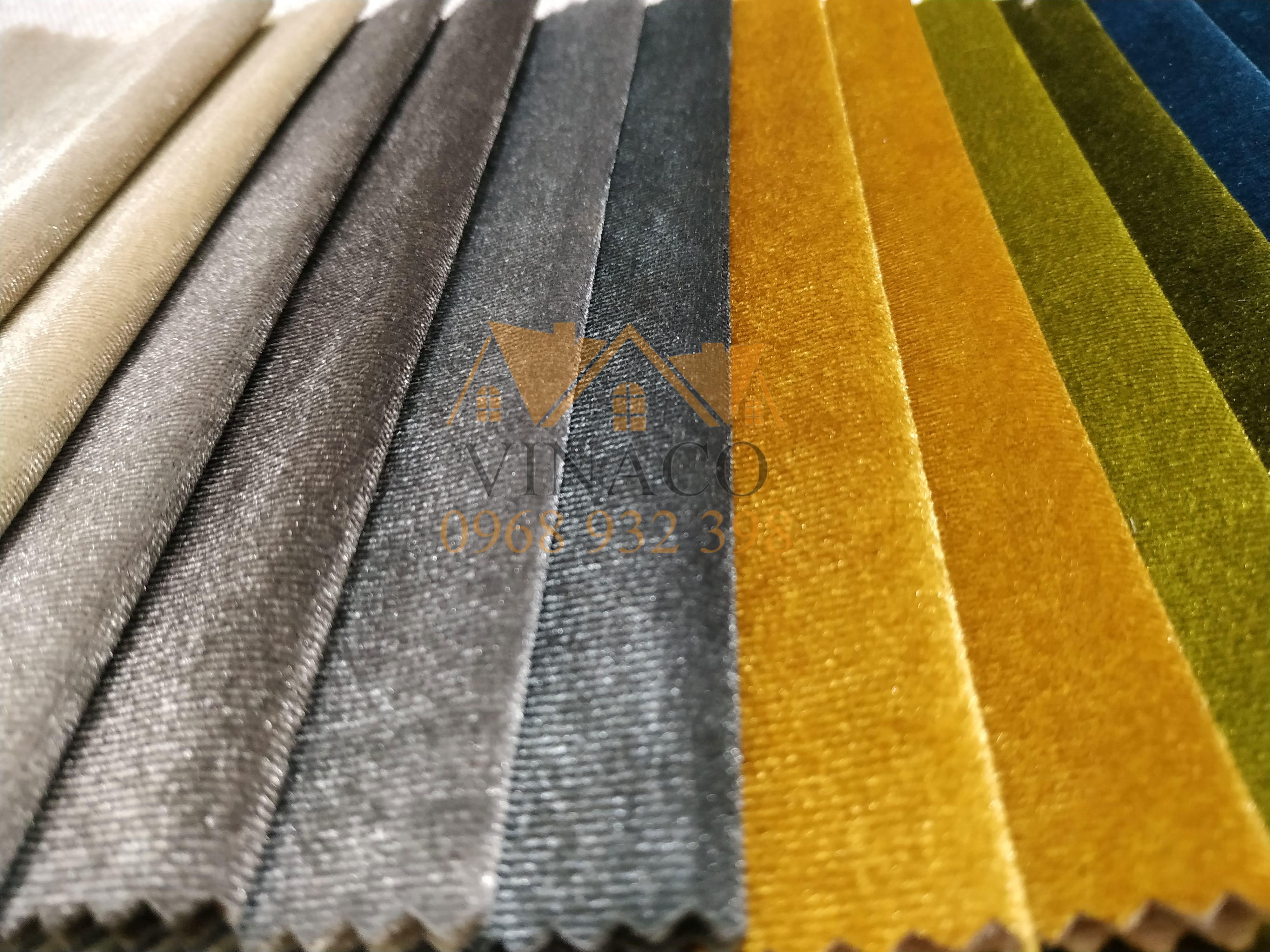 Mẫu vải nhung lông ngắn AA3 chuyên dùng bọc ghế sofa