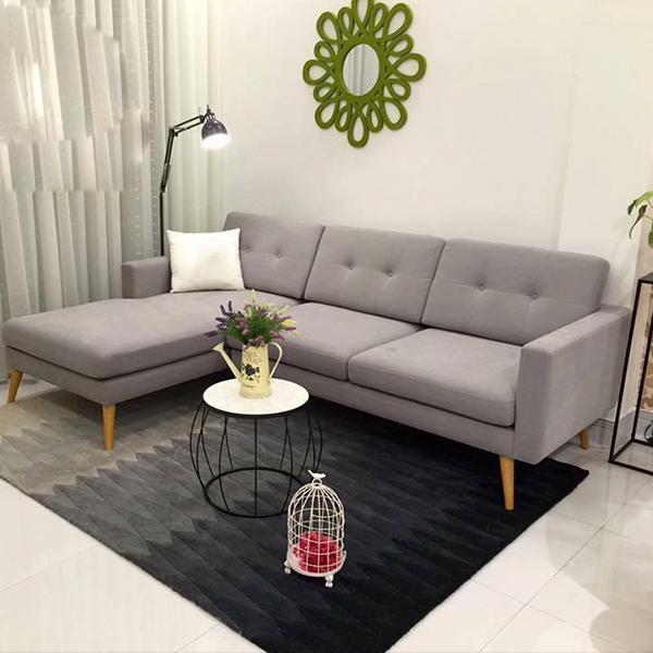 Mẹo hay giúp trang trí sofa phòng khách rộng hơn với sofa góc
