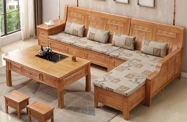 Mẹo hay tạo sự êm ái cho bộ sofa gỗ phòng khách nhà bạn