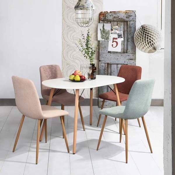 Phong cách bọc nệm cho ghế ăn trong trang trí nội thất.