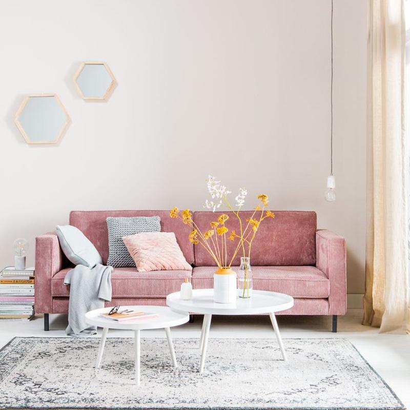 Phòng khách sang trọng nhẹ nhàng cùng tone màu pastel