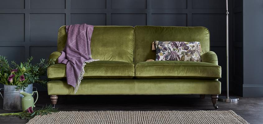 Sofa nhung cho những tín đồ thích nhung