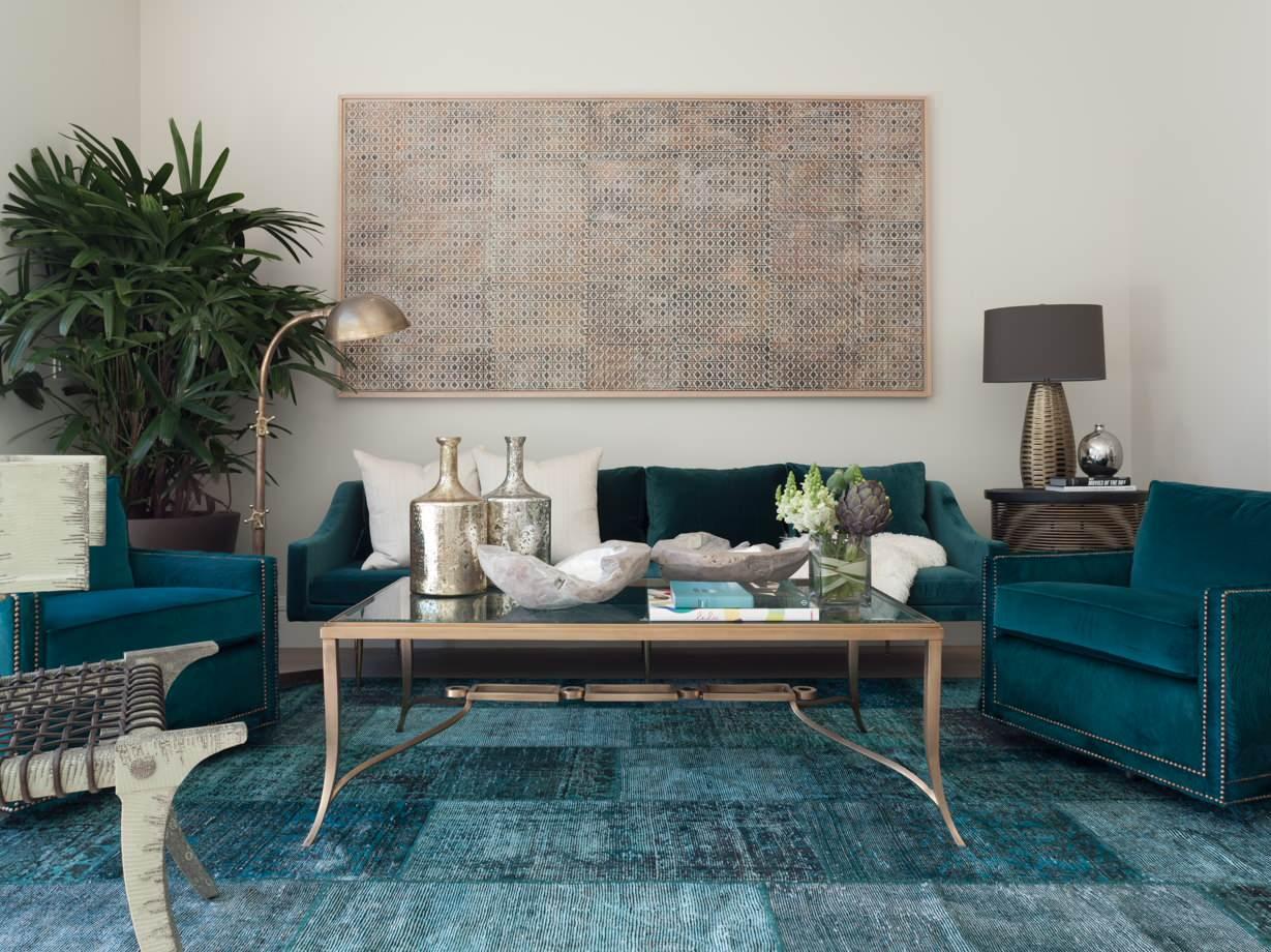Sofa xanh cổ vịt mang vẻ đẹp riêng biệt cho không gian phòng khách
