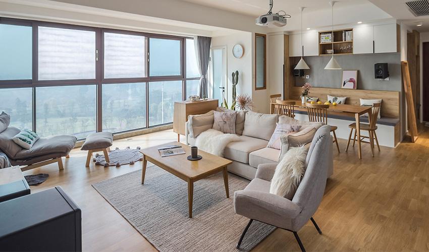 Sự cuốn hút của bộ ghế sofa gỗ mang lại cho không gian phòng khách
