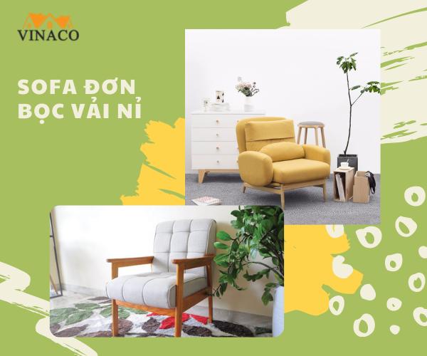 Tại sao bạn nên lựa chọn sofa đơn bọc vải nỉ?