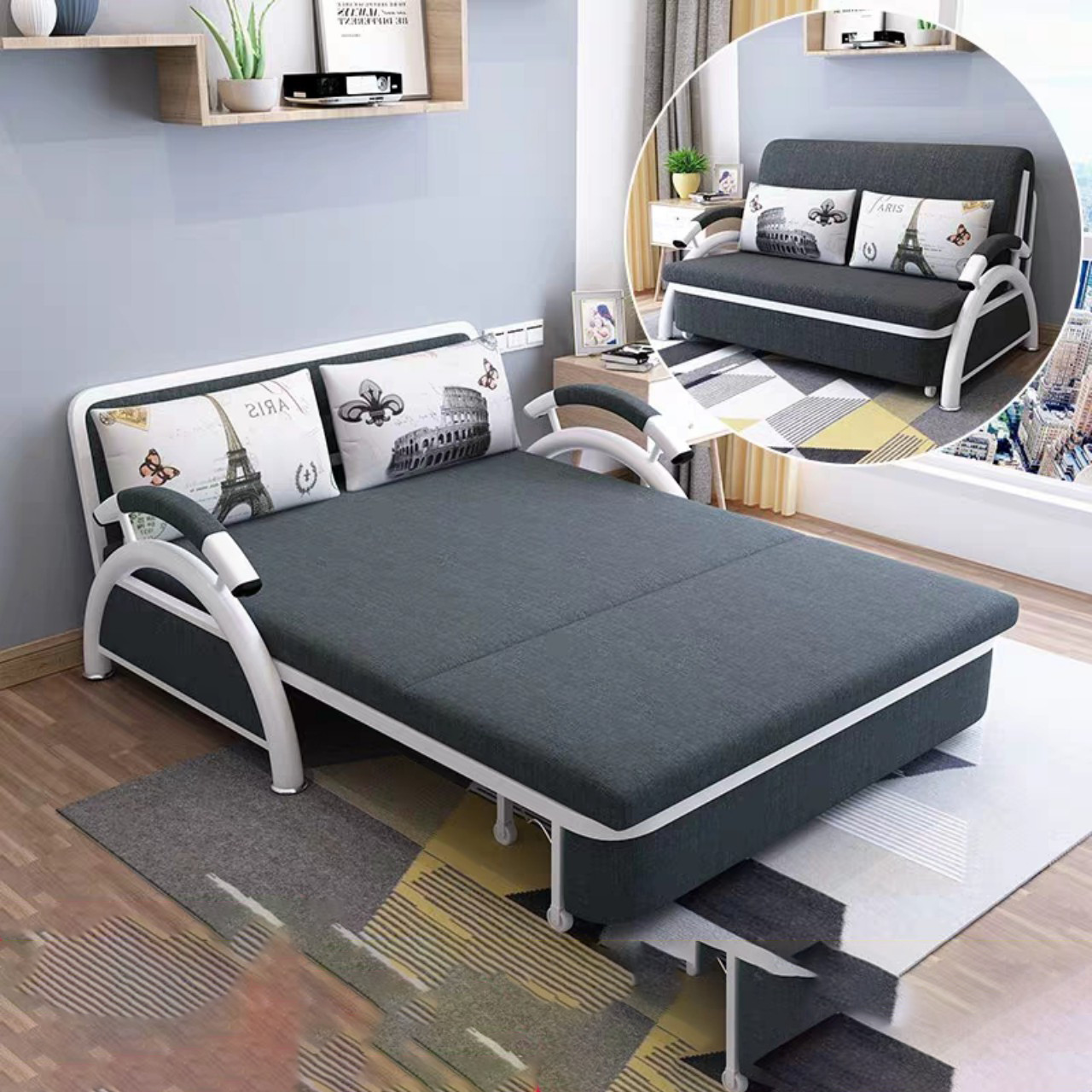 Tậu ngay một chiếc sofa giường cho phòng khách tiện lợi
