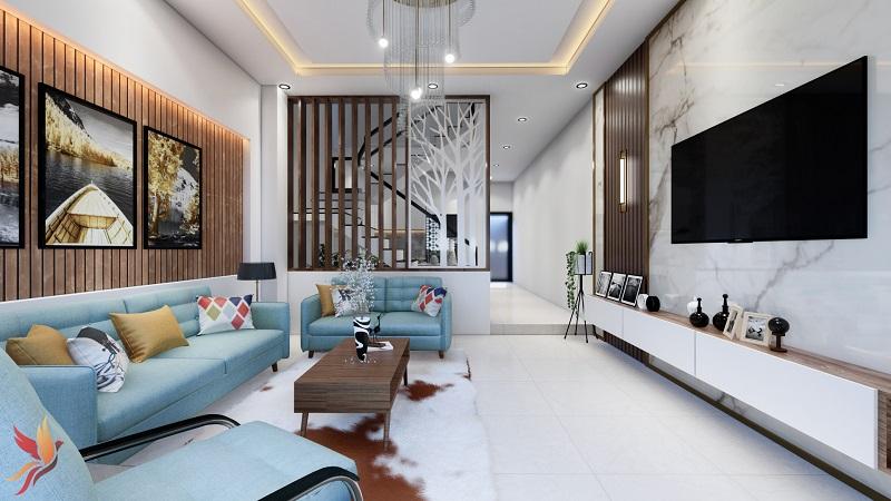 Thiết kế nội thất cho phòng khách không gian sang trọng và thoải mái