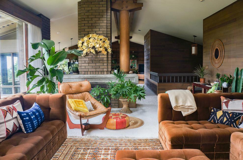 Thiết kế phòng khách độc đáo cùng phong cách Bohemian tự do