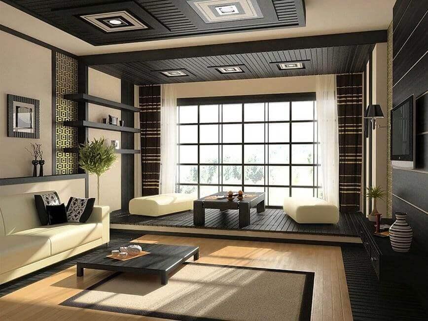 Thiết kế phòng khách theo phong cách Á Đông