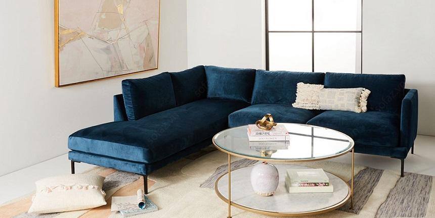 Thoải mái lựa chọn ghế sofa nhung không lo khó khăn về vệ sinh và bảo quản