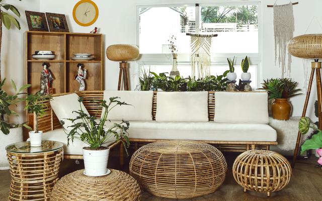 Trang khí không gian phòng khách mang đậm hơi thở thiên nhiên