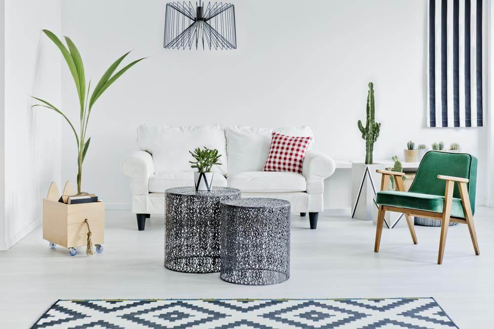Trang trí phòng khách theo phong cách Scandinavian